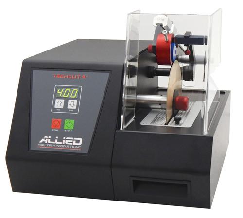 Cortadora de disco de diamente de velocidad reducida para preparar muestras de microscopia electronica